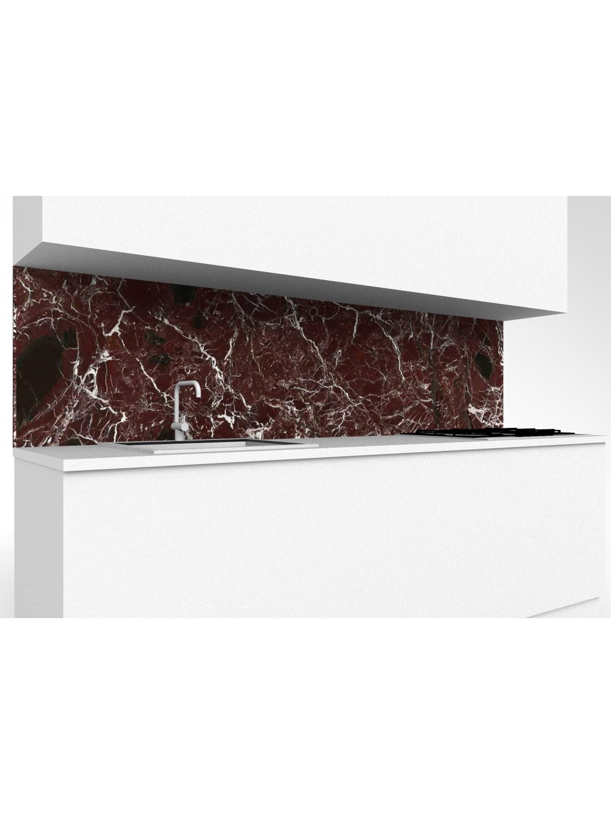 Top mobile Küche aus Rosso Levanto Marmor
