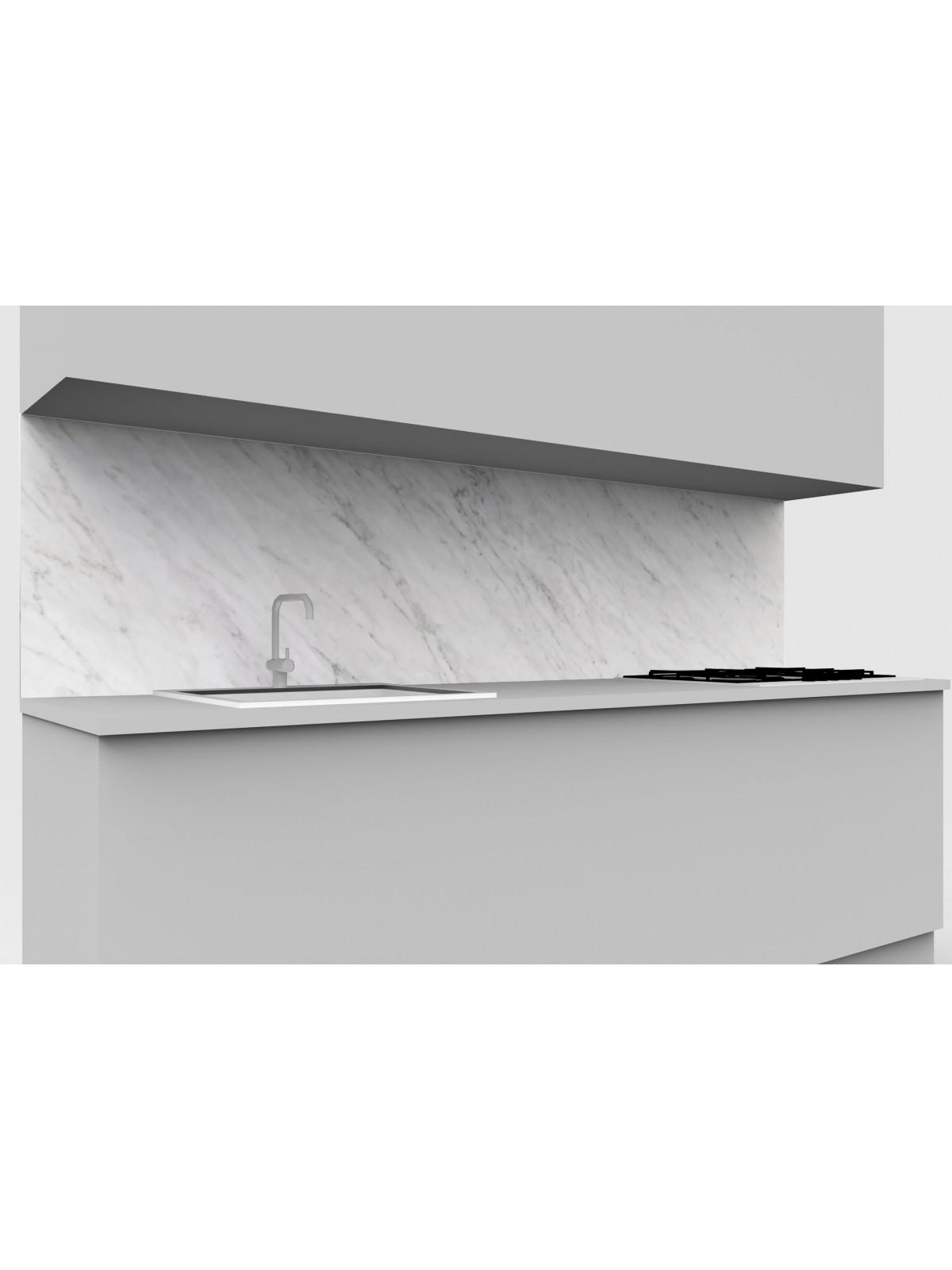 Küchenrückwand I Bianco Carrara Marmor