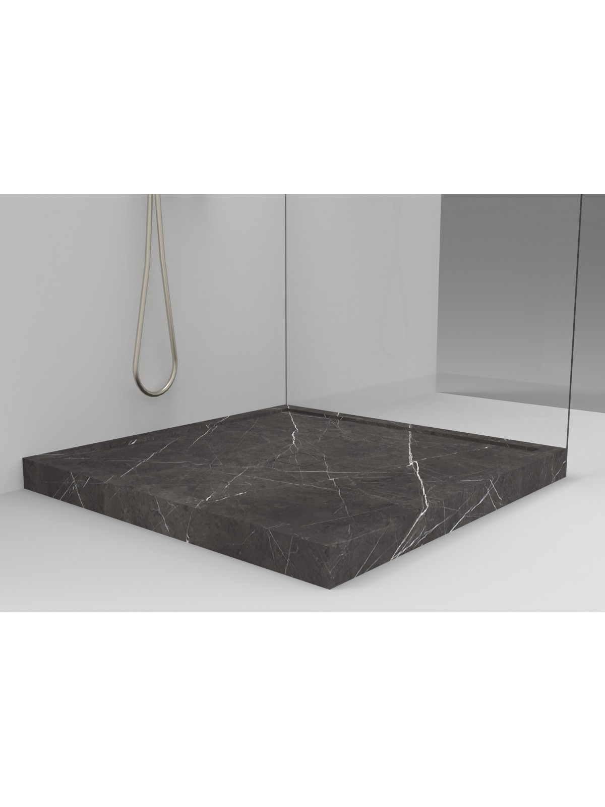 Marmor Steingraphit Duschwanne verstärkt I Grau