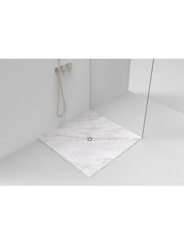 Karpfen in Carrara weiße Duschplatte