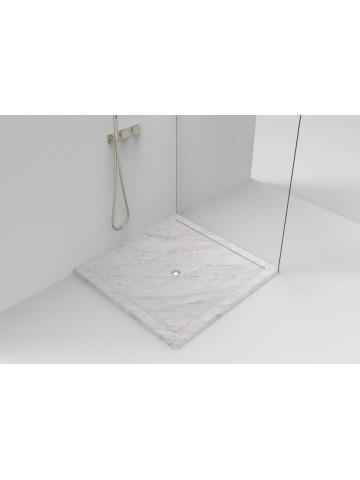 Carraras weiße Overpaiance Duschplatte