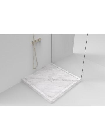 Duschplatte verstärkt mit Überlauf I Marmor Bianco di Carrara