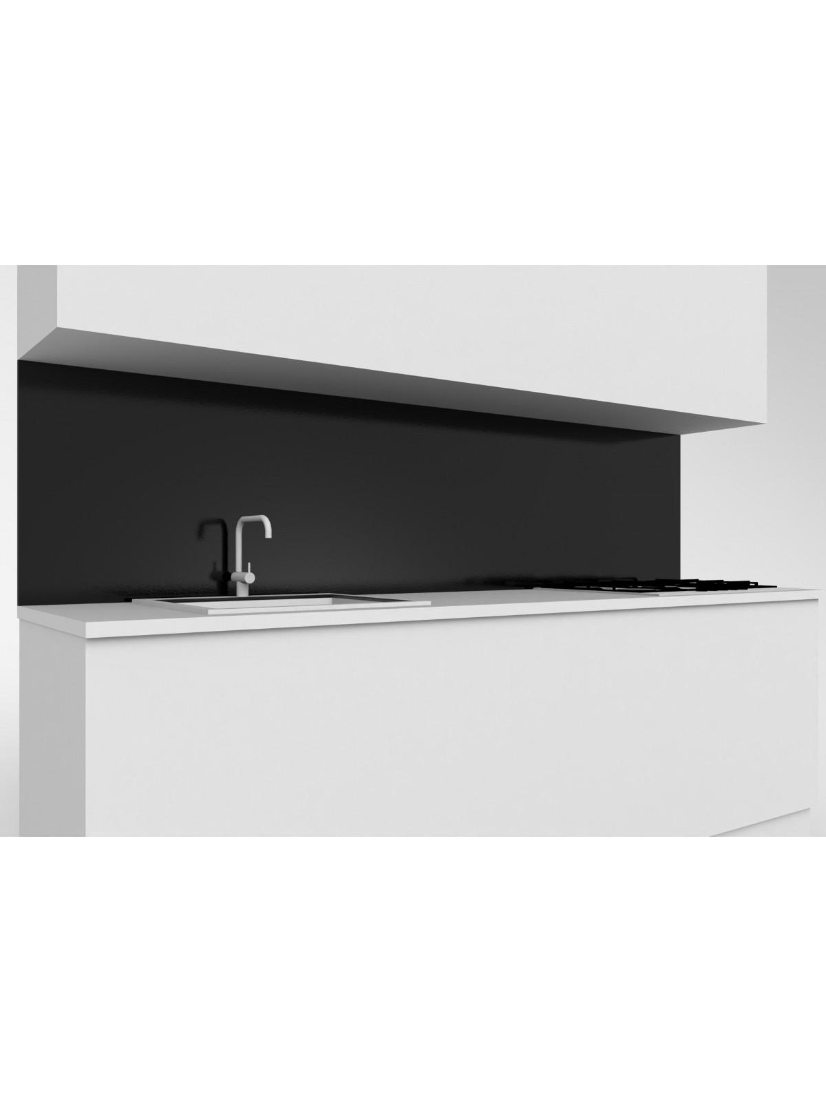 Erhöhte obere mobile Küche aus Absolut Schwarz