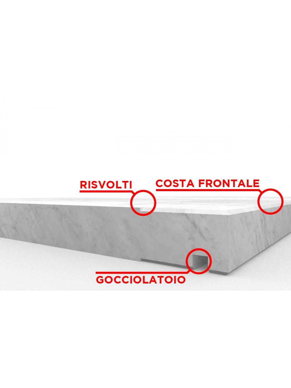 Bianco Carrara Fensterbank