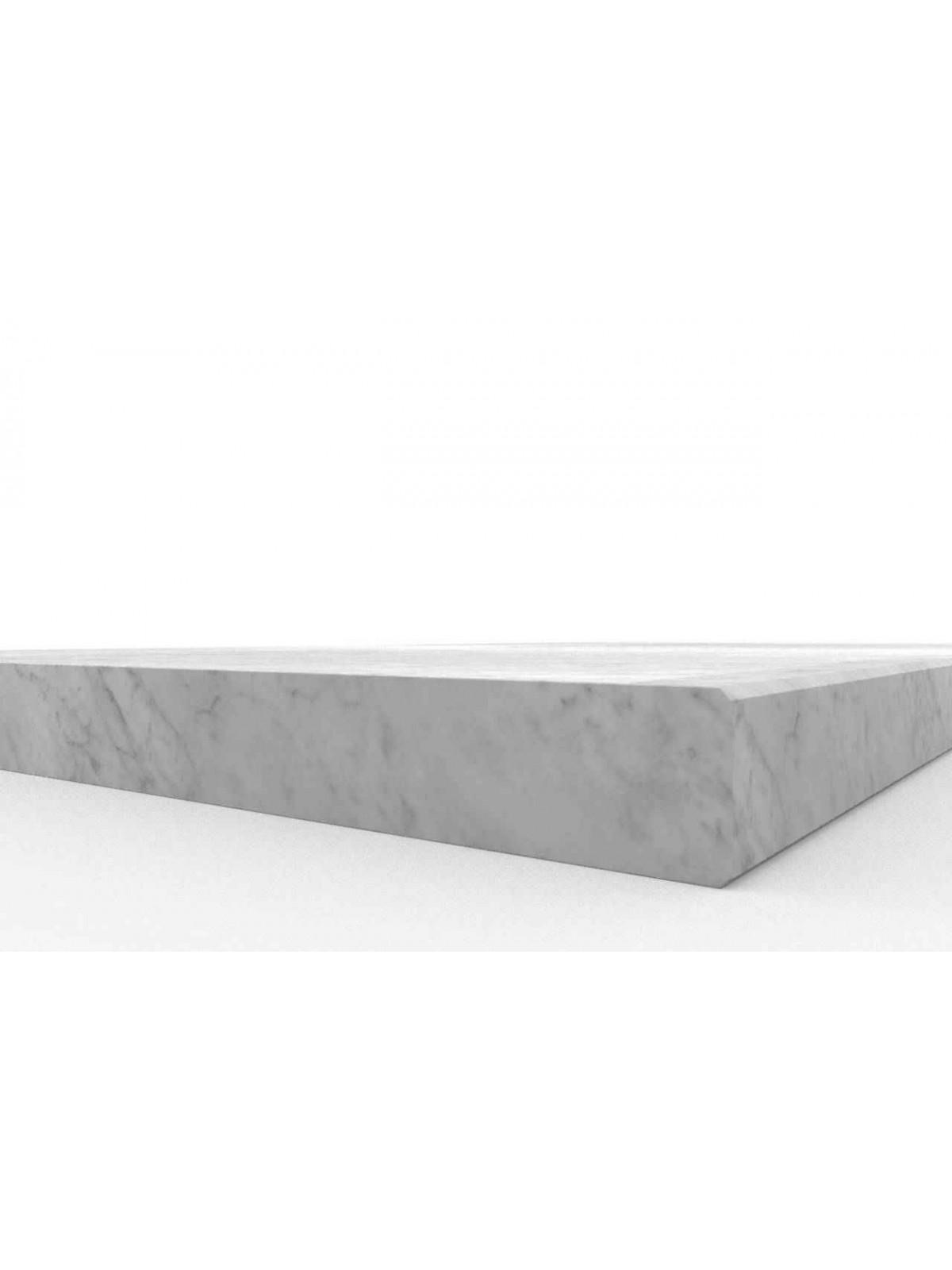 Trittstufe in Bianco Carrara