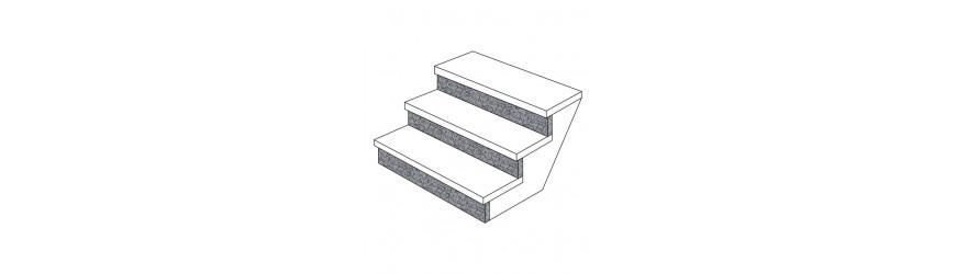 Steigleitung in Marmor, Granit und Stein