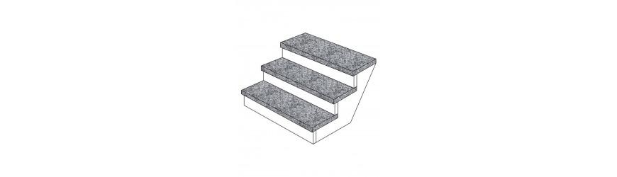 Stufen aus Marmor, Granit und Stein